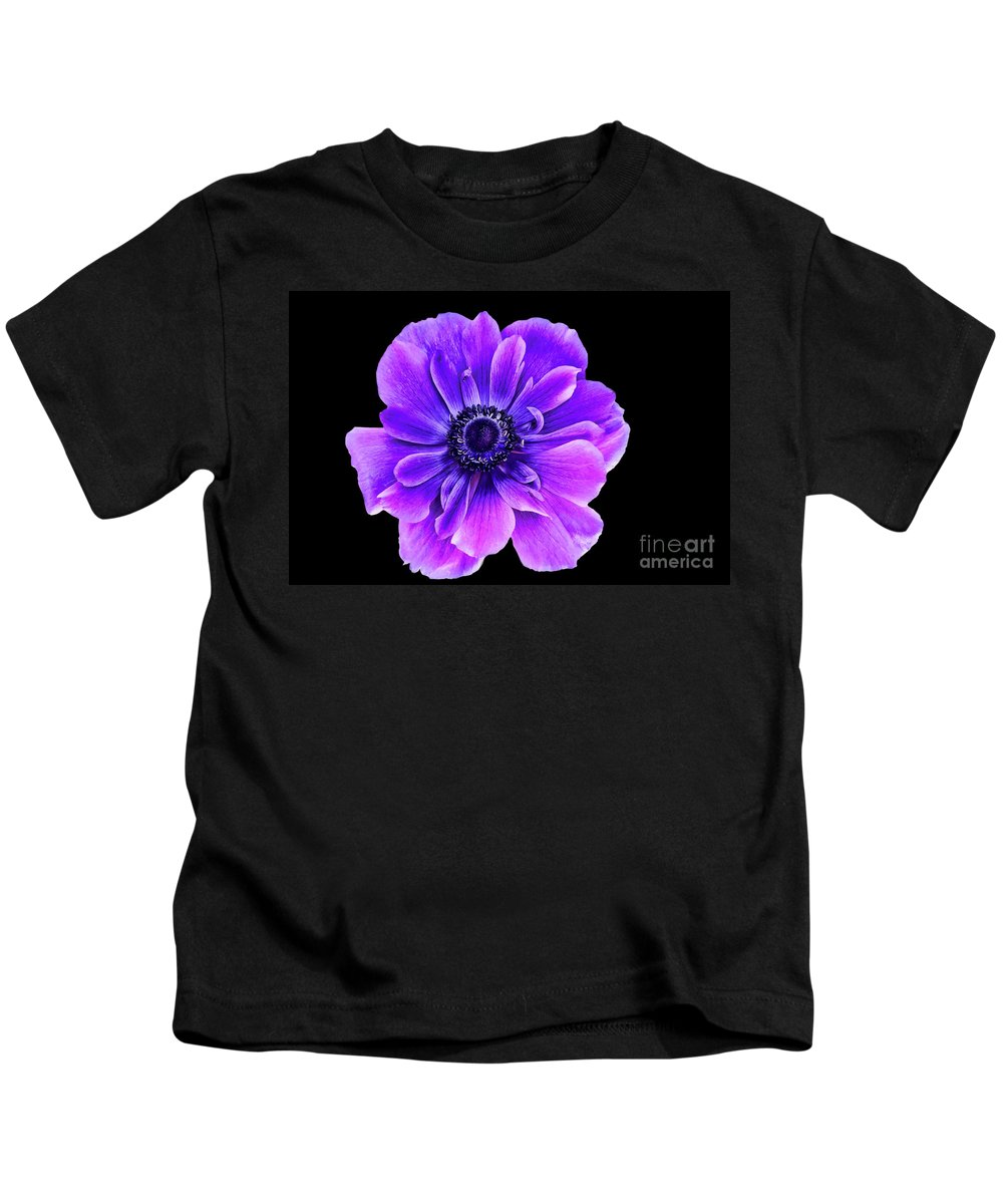Purple Flower Kids T-Shirt featuring the photograph Purple Anemone Flower by Mariola Bitner