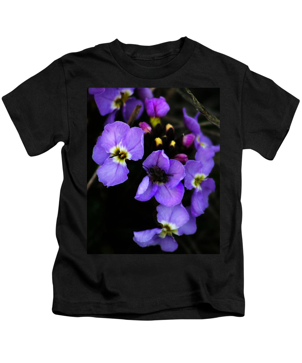 Flowers Kids T-Shirt featuring the photograph Purple Arctic Wild Flowers by Anthony Jones