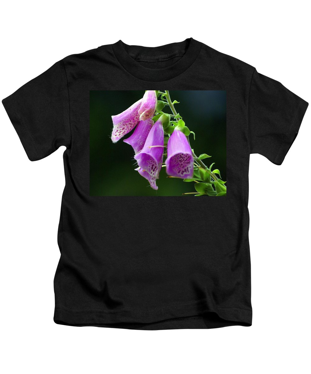 Flowers Kids T-Shirt featuring the photograph Purple Bells Horizontal by Marty Koch