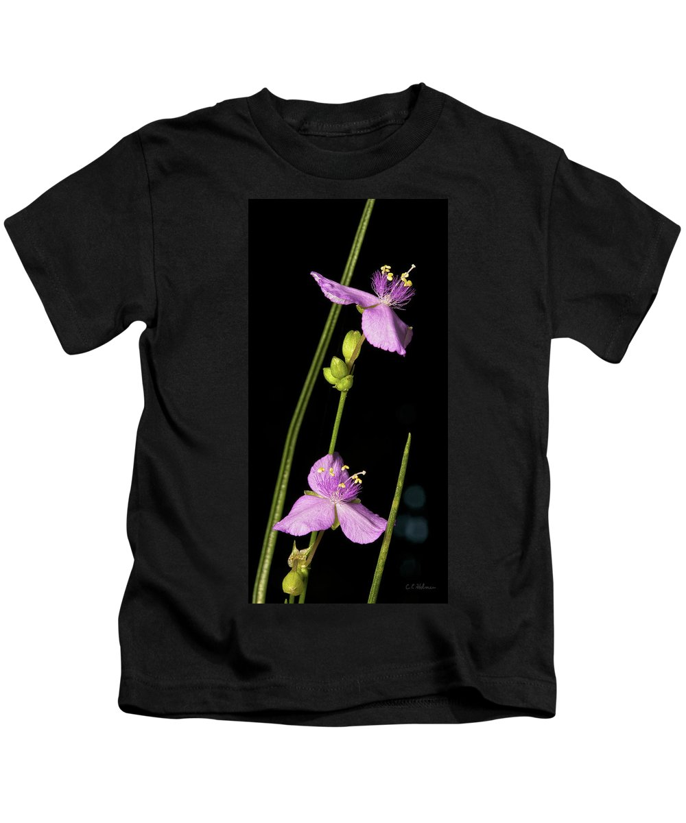 Purple Kids T-Shirt featuring the photograph Purple by Christopher Holmes