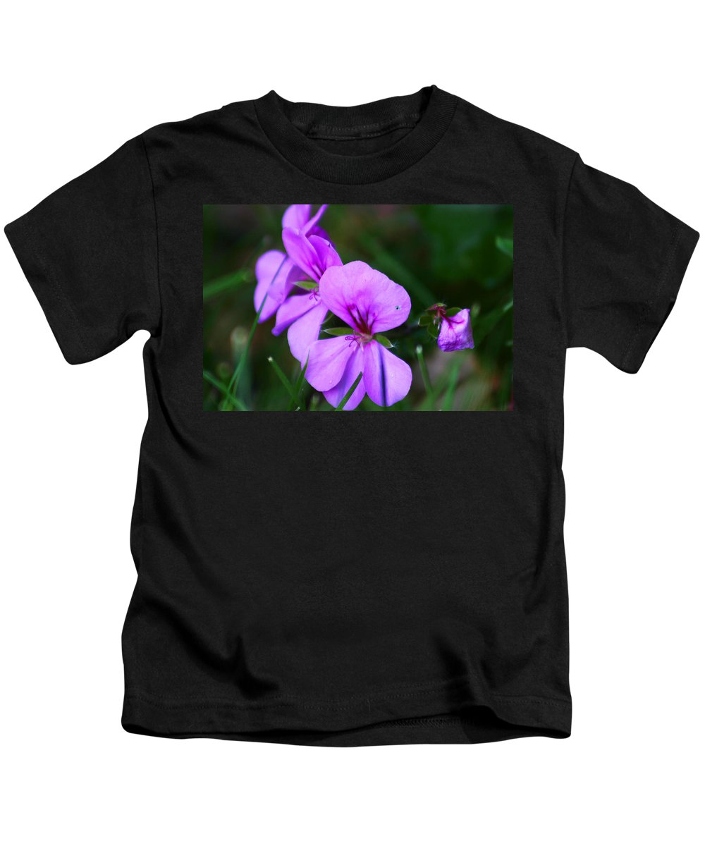 Flowers Kids T-Shirt featuring the photograph Purple Flowers by Anthony Jones