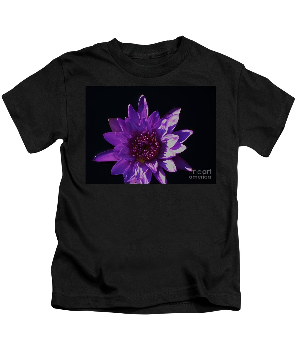 Photograph Kids T-Shirt featuring the photograph Purple Lily Monet by Eric Schiabor