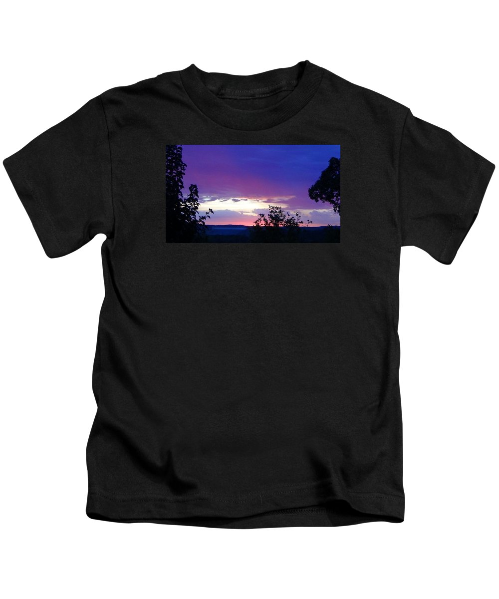 Purple Sunset Kids T-Shirt featuring the photograph Purple Passion by Toni Berry