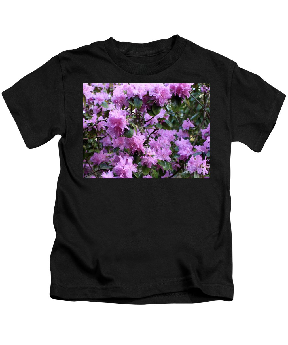 Spring Kids T-Shirt featuring the photograph Purple Rhododendrons by Carol Groenen