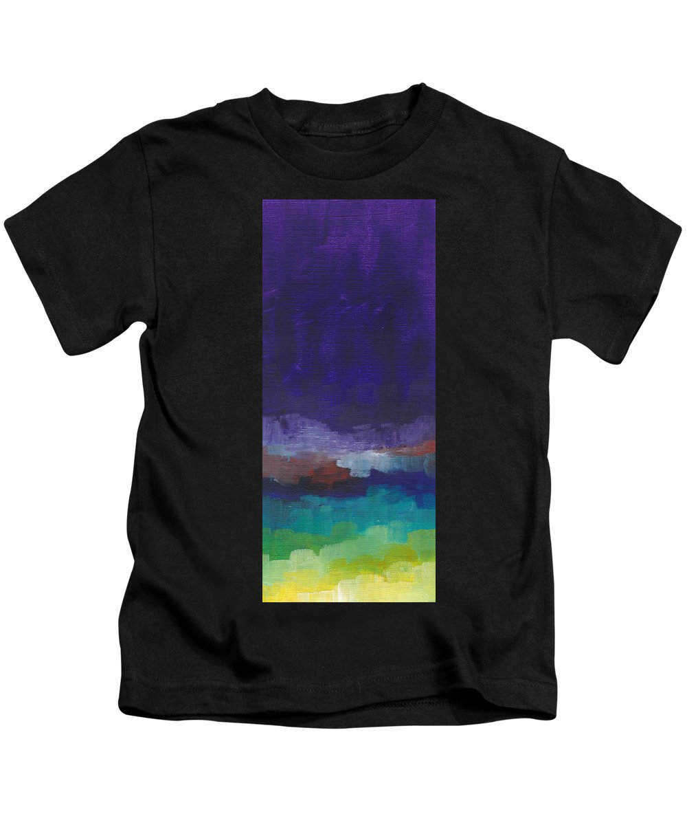 Purple Kids T-Shirt featuring the painting Purple Rising by Chelsie Ring