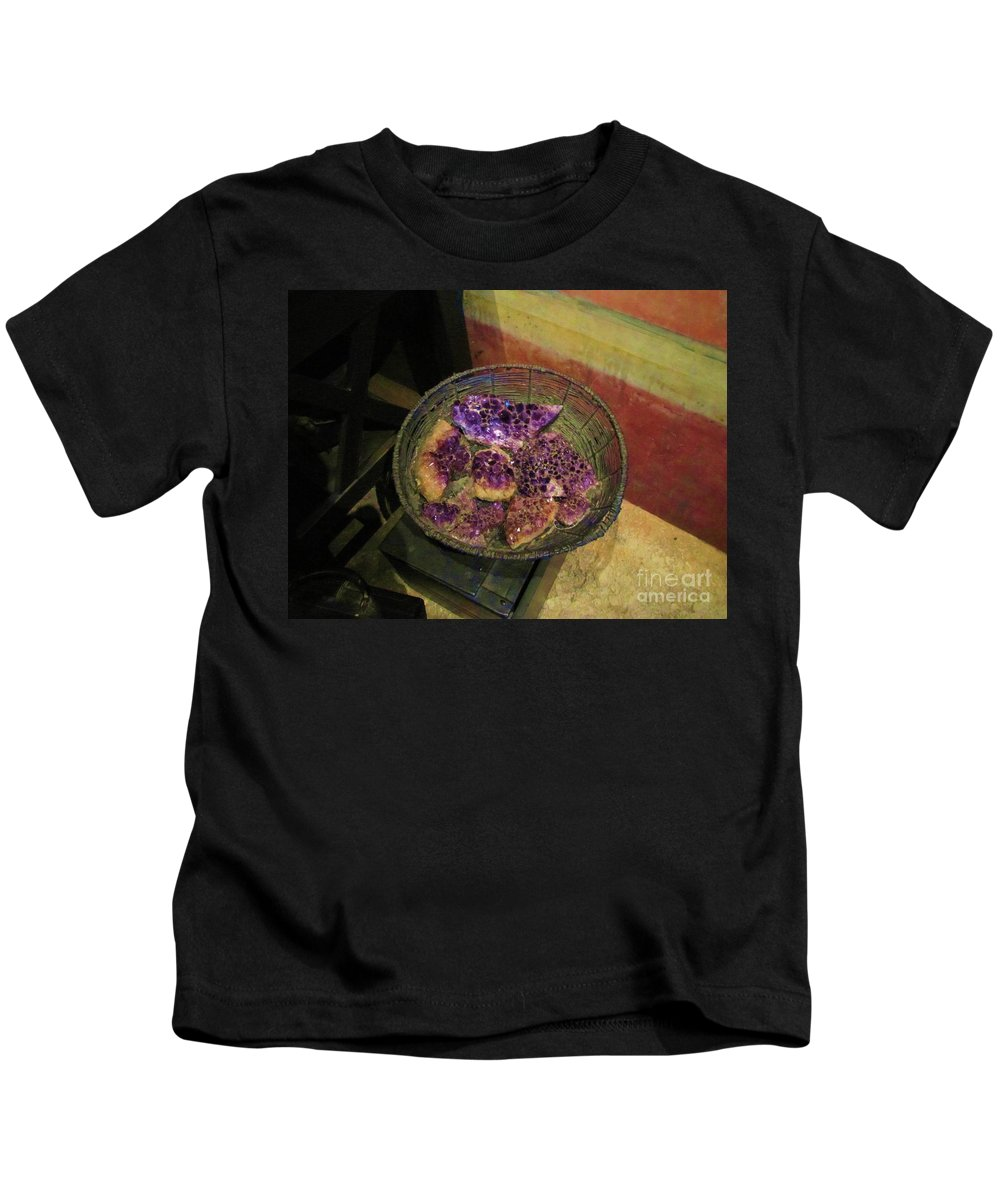 Rocks Kids T-Shirt featuring the photograph Purple Rocks by Michelle Powell
