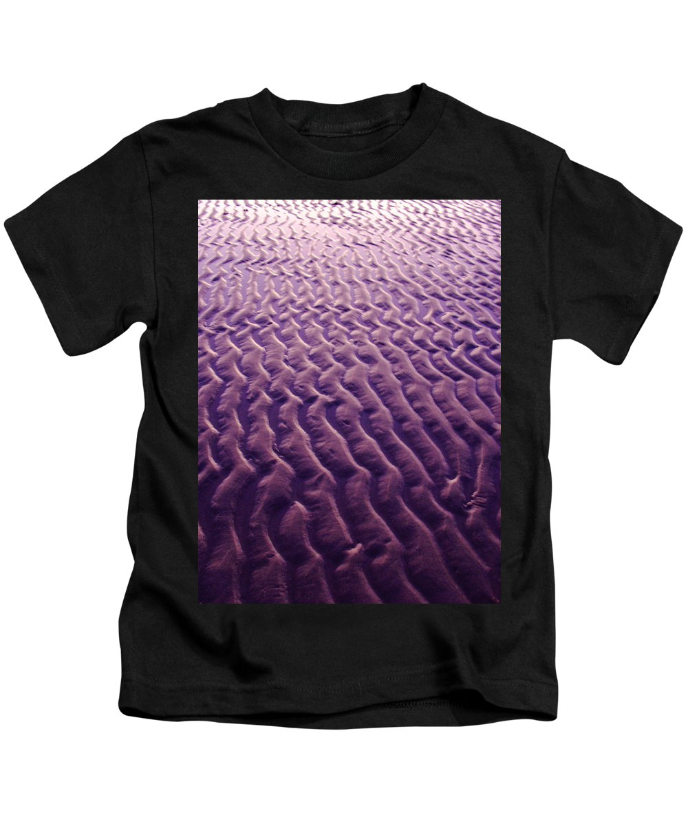 Sand Kids T-Shirt featuring the photograph Purple Waves Of Sand by Jill Reger