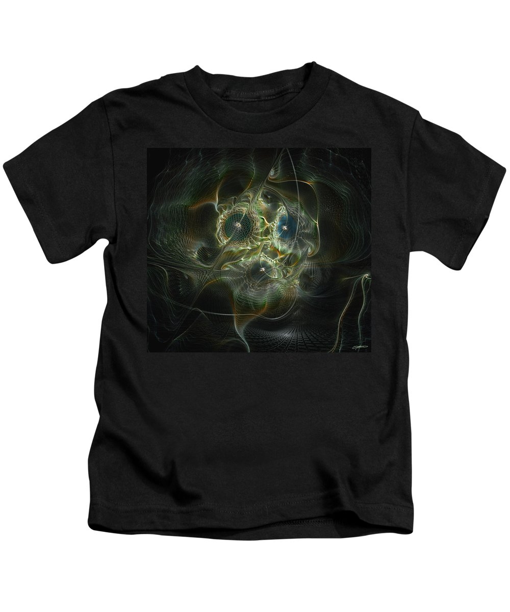 Abstract Kids T-Shirt featuring the digital art Purpose by Casey Kotas