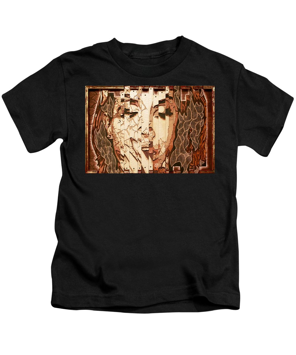 Lana Del Rey Kids T-Shirt featuring the painting Ultraviolence by Bobby Zeik