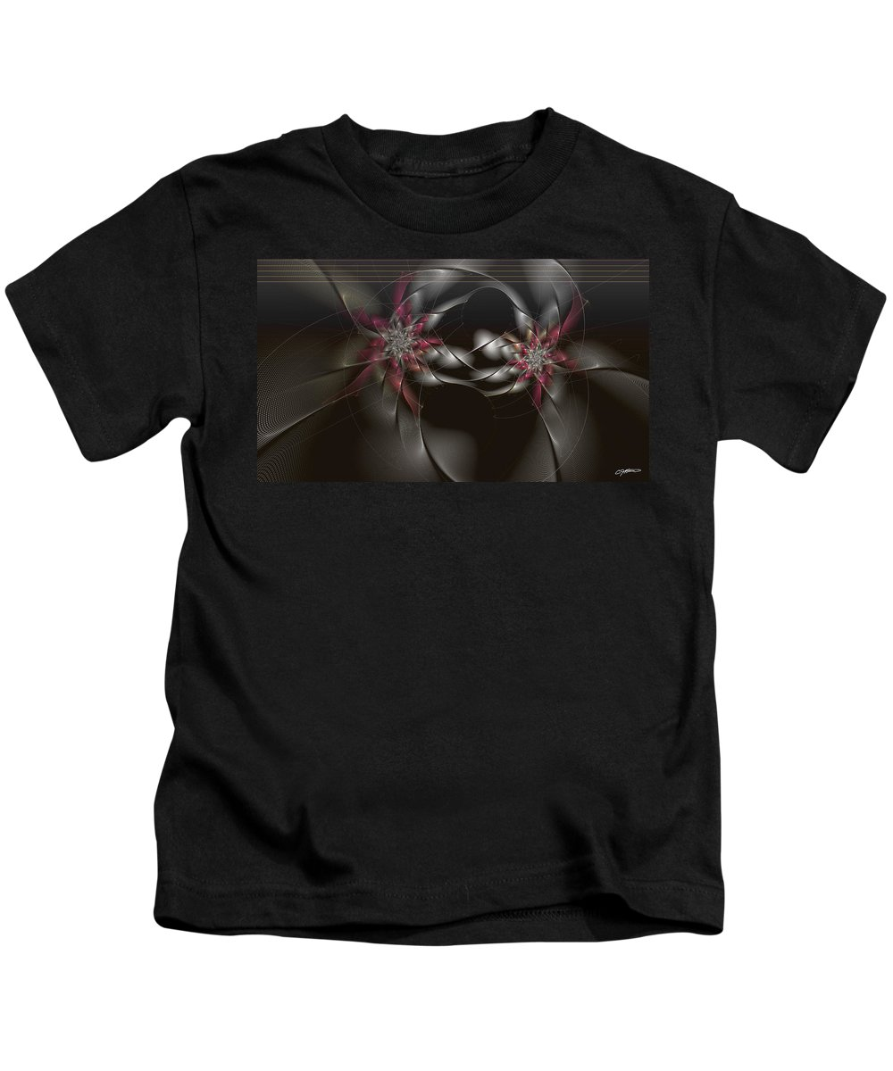 Abstract Kids T-Shirt featuring the digital art Quantum Collusion by Casey Kotas