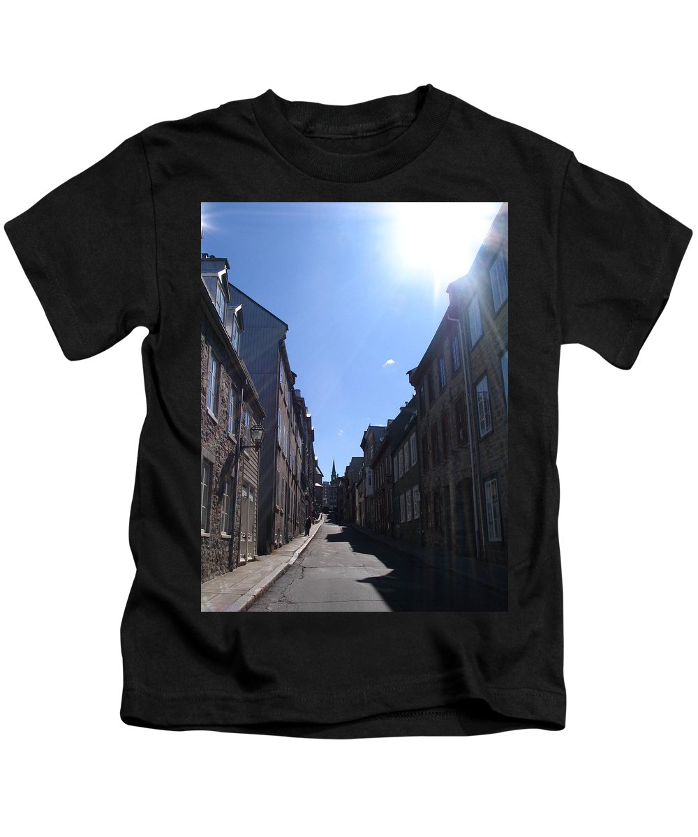 Kids T-Shirt featuring the photograph Quebeccity 2 by Line Gagne