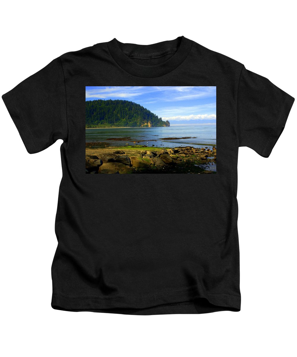Olympic Kids T-Shirt featuring the photograph Quiet Bay by Marty Koch
