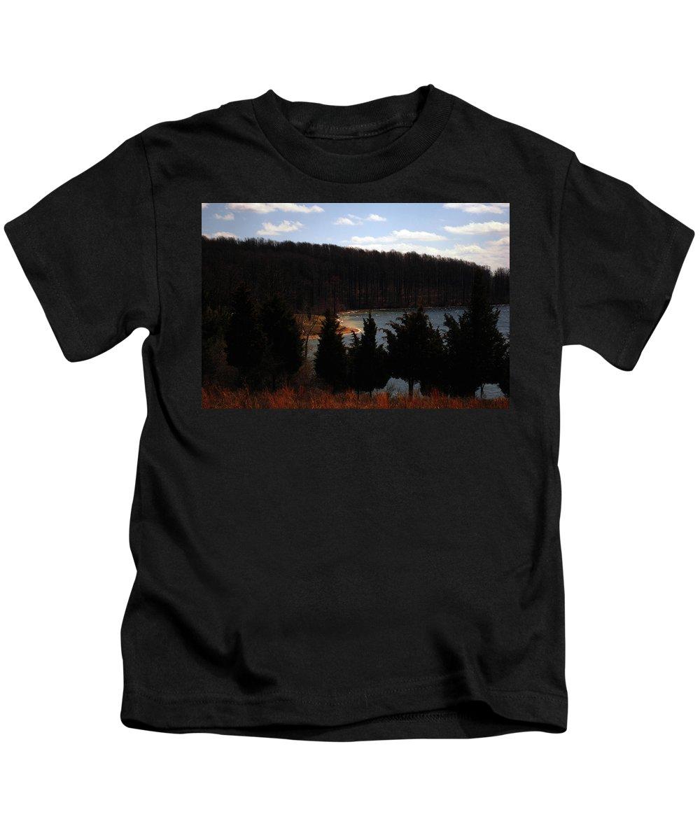 Landscape Kids T-Shirt featuring the photograph Quiet Shoreline by Lori Tambakis