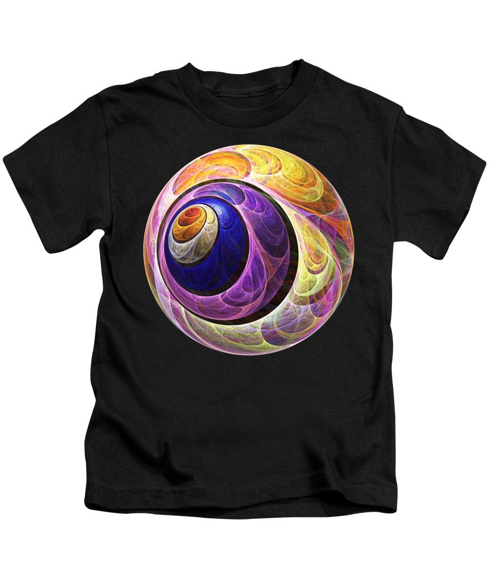 Computer Kids T-Shirt featuring the digital art Quizzical by Anastasiya Malakhova