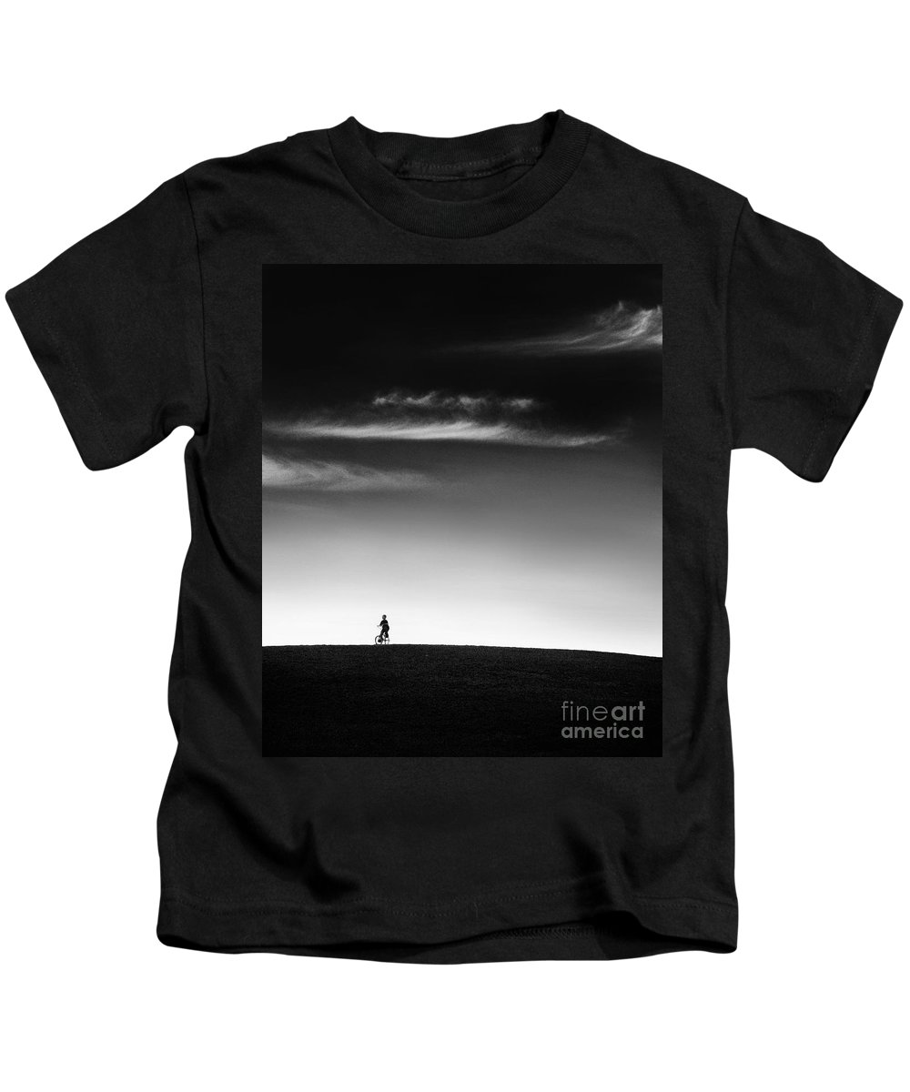 Boy Kids T-Shirt featuring the photograph Racing The Wind by Dana DiPasquale