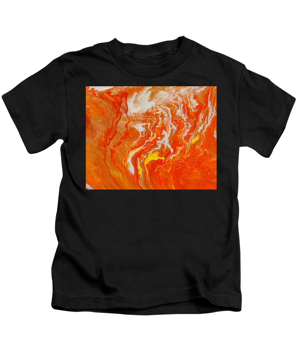 Fusionart Kids T-Shirt featuring the painting Radiance by Ralph White