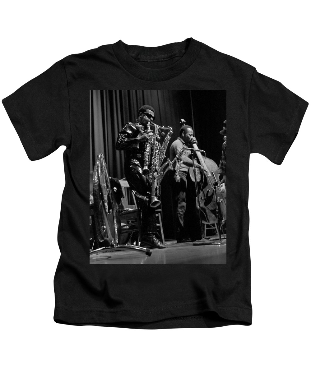 Rahsaan Roland Kirk Kids T-Shirt featuring the photograph Rahsaan Roland Kirk 1 by Lee Santa