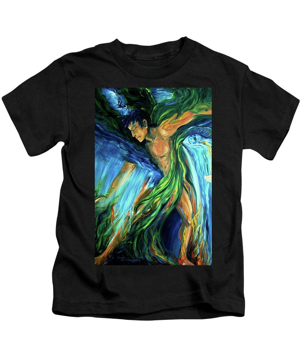 Vision Quest Kids T-Shirt featuring the photograph Raindancer by Jennifer Christenson