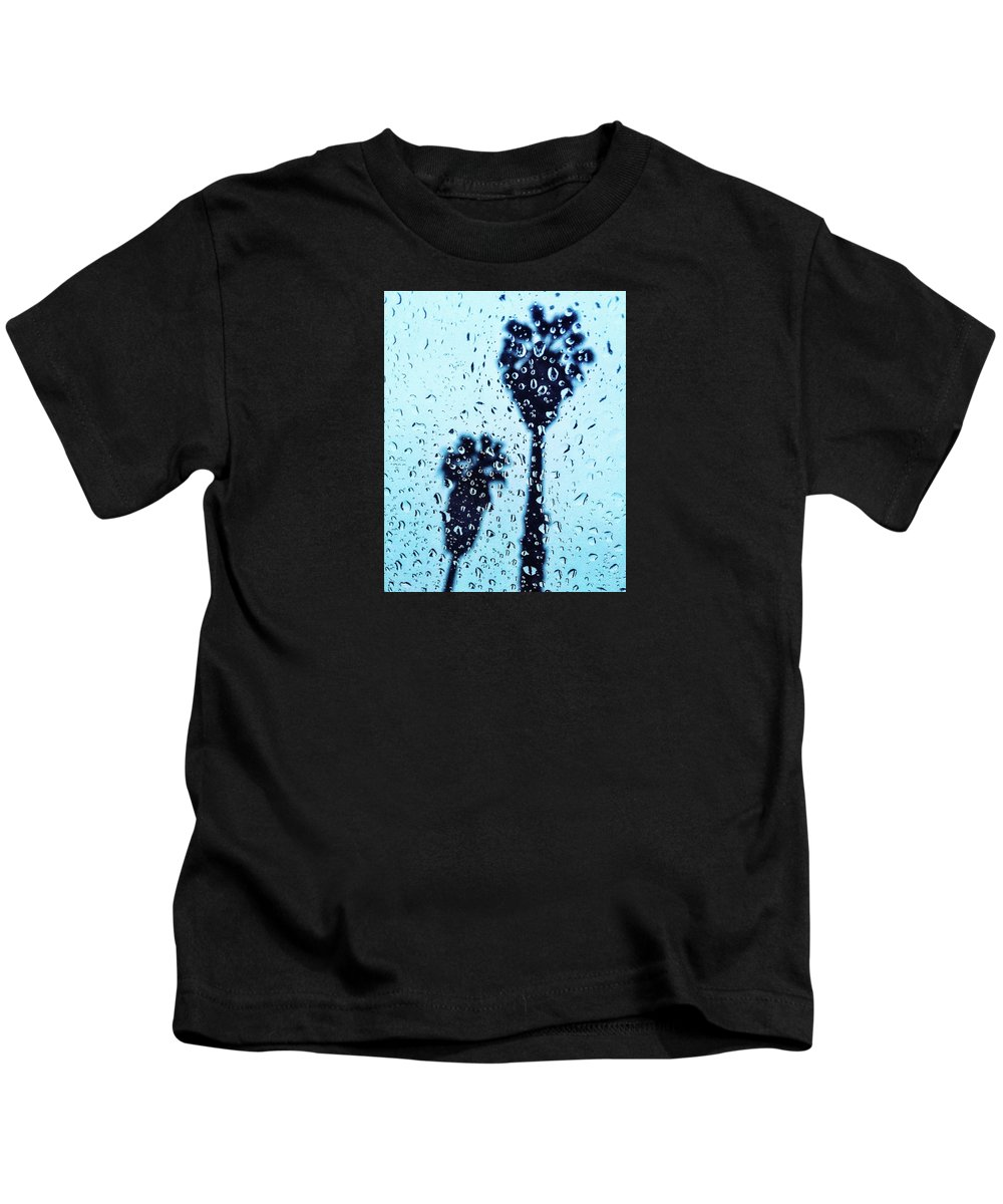 Raindrop Kids T-Shirt featuring the photograph Raindrop Palms by Braden Moran