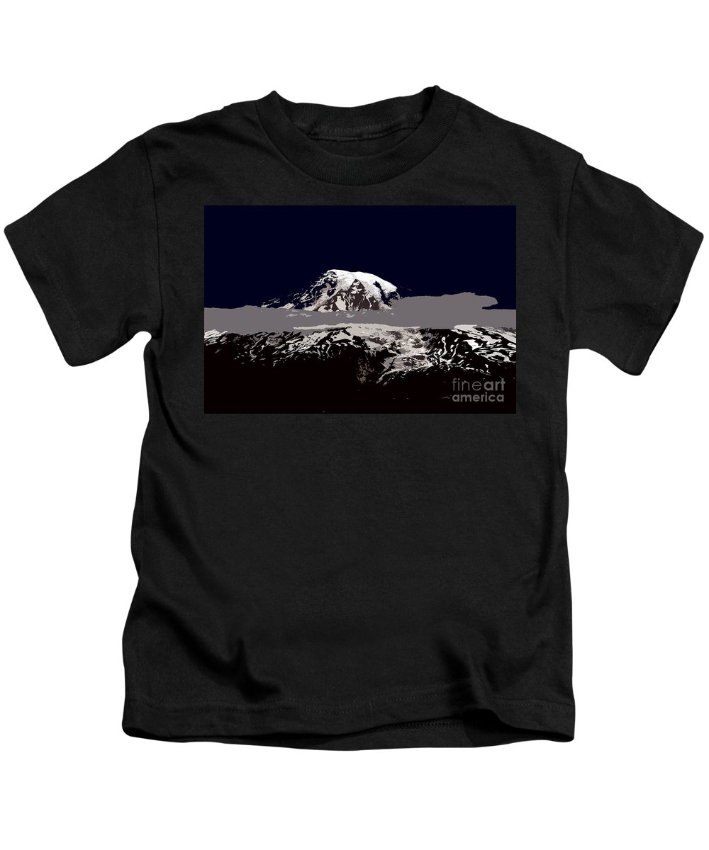 Mt Rainier Kids T-Shirt featuring the painting Rainier by David Lee Thompson