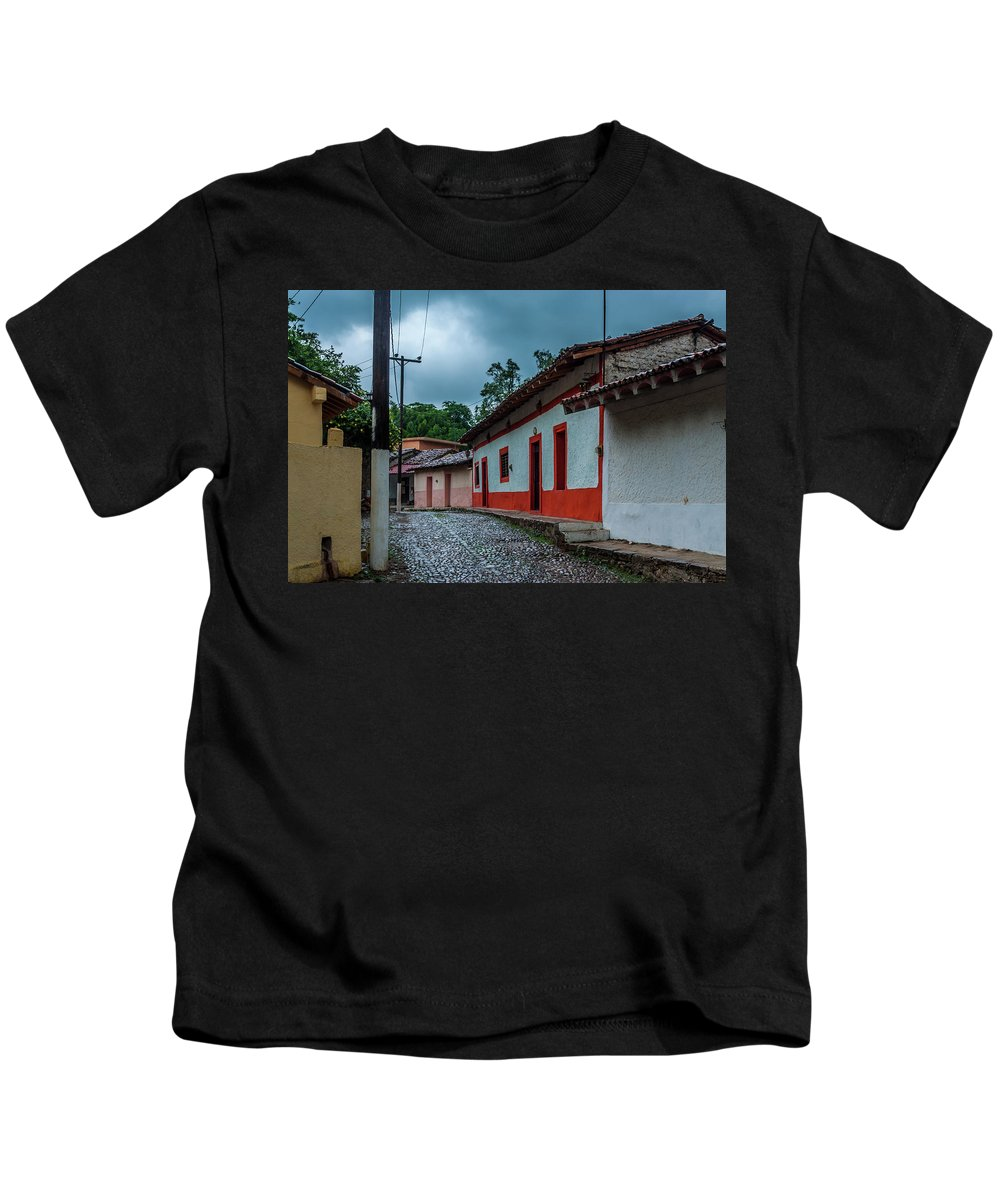 Landscape Kids T-Shirt featuring the photograph Rainy Day In Copala by Javier Flores