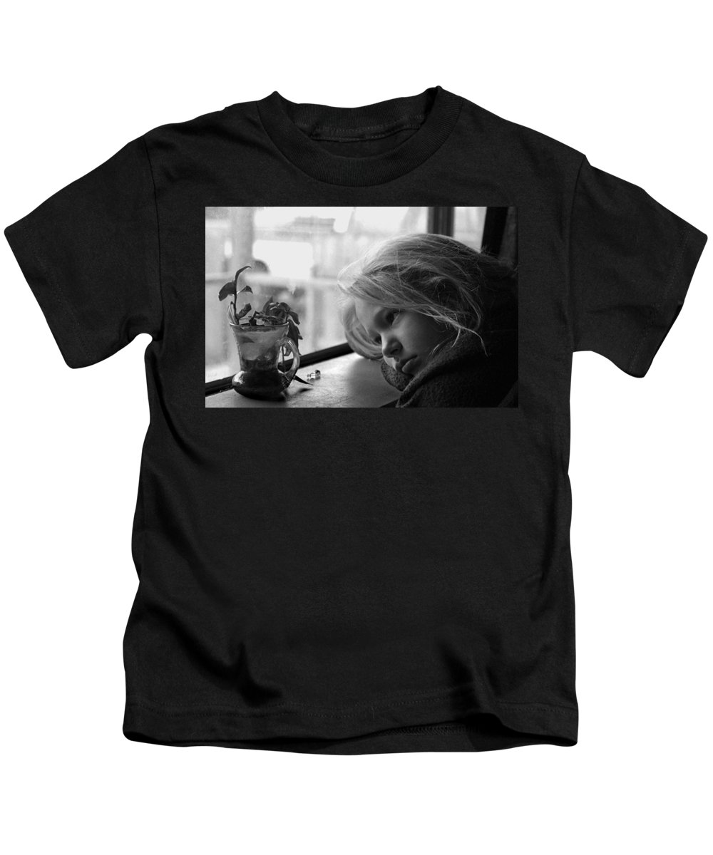 Sad Face Kids T-Shirt featuring the photograph Rainy Day by Peter Piatt