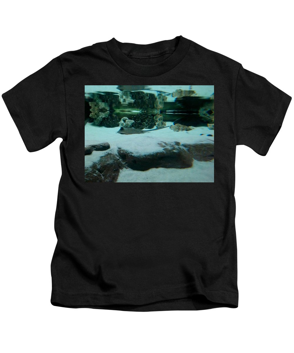 Sting Ray Kids T-Shirt featuring the photograph Ray Bay by Sarah Houser