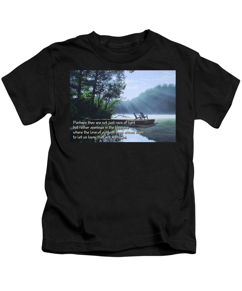 Memorial Kids T-Shirt featuring the painting Rays Of Light - Place To Ponder by Anthony J Padgett