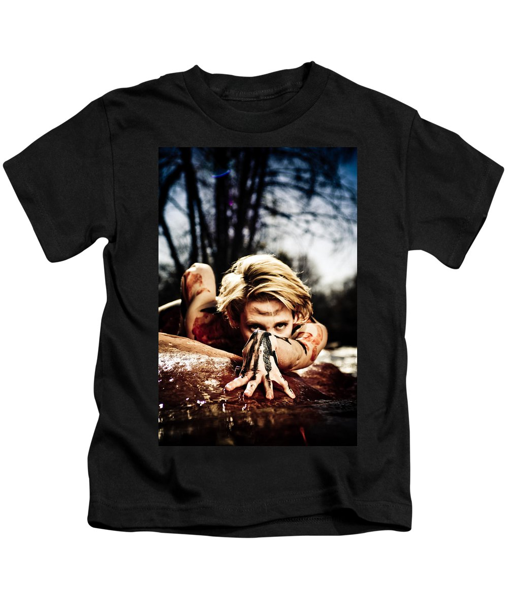 Woman Kids T-Shirt featuring the photograph Reach by Scott Sawyer