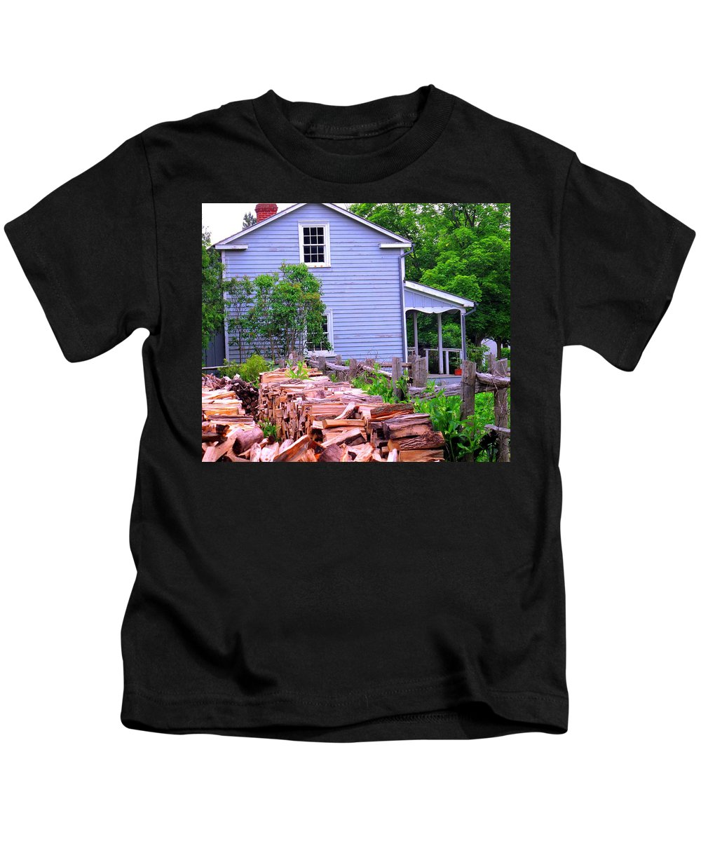 Pioneer Kids T-Shirt featuring the photograph Ready For Winter by Ian MacDonald