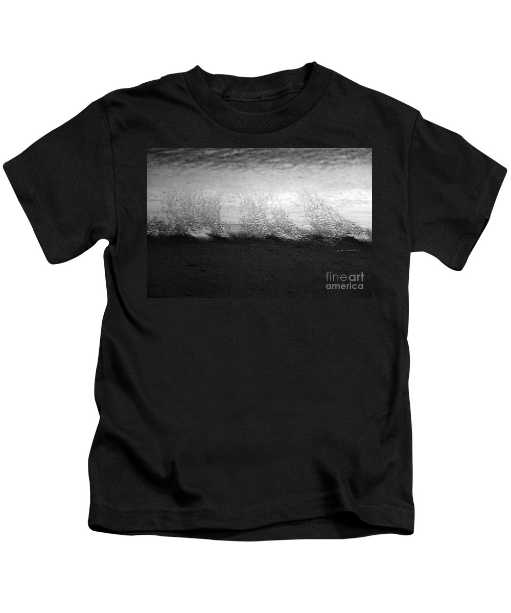 black And White Kids T-Shirt featuring the photograph Recession by Amanda Barcon