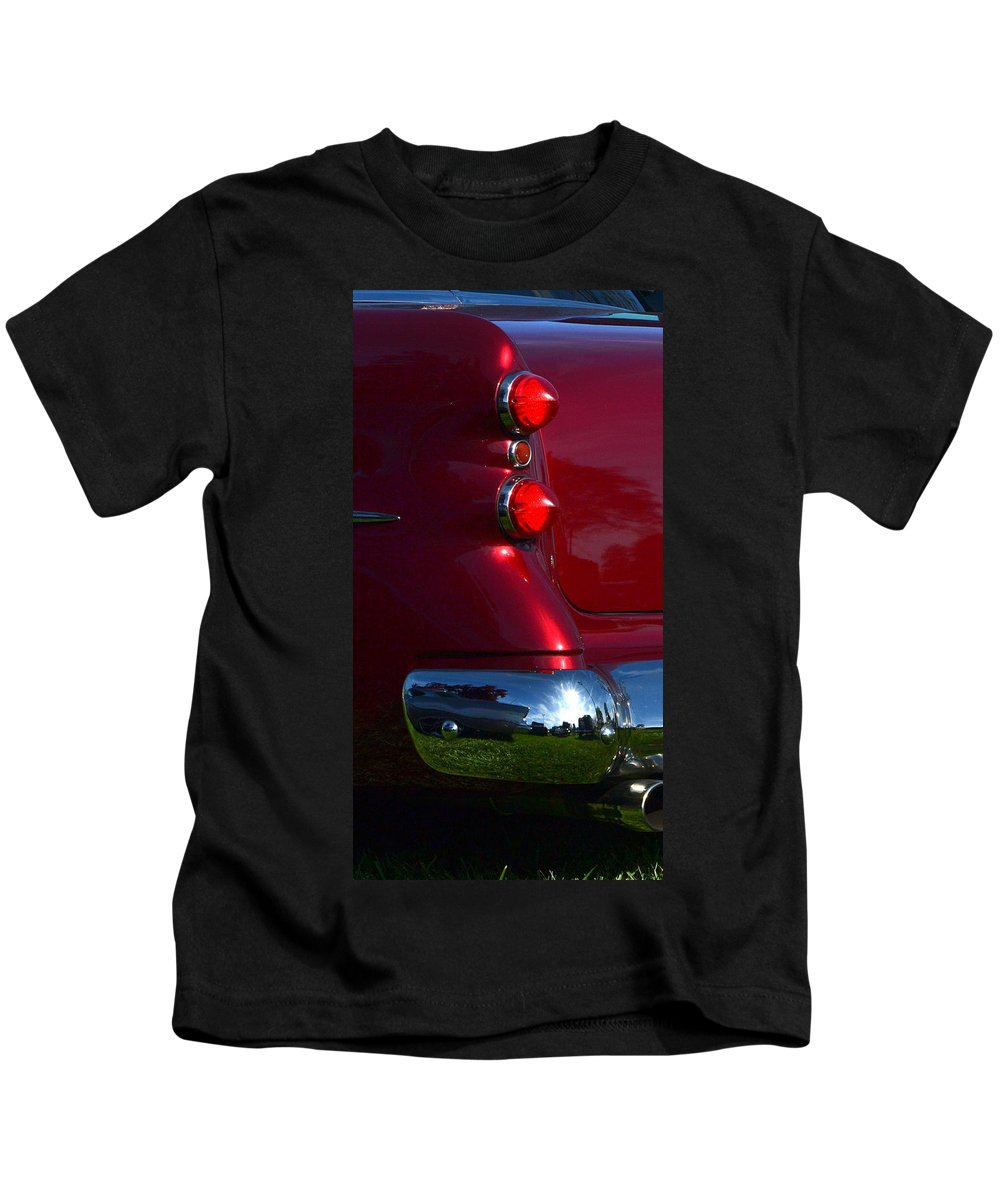 Kids T-Shirt featuring the photograph Red 50's Classic Tail Light by Dean Ferreira
