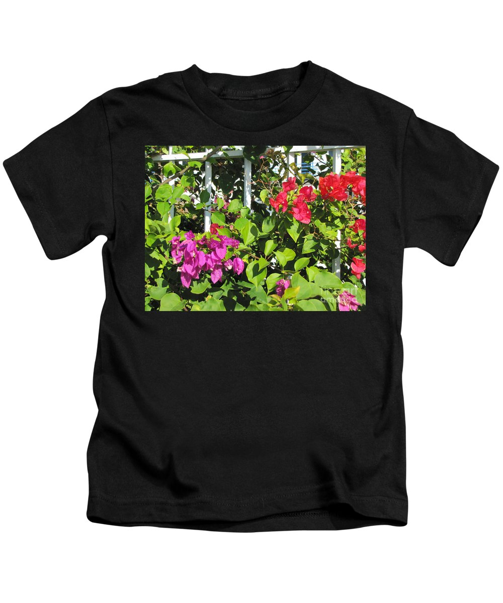 Flowers Kids T-Shirt featuring the photograph Red And Purple Flowers by Michelle Powell