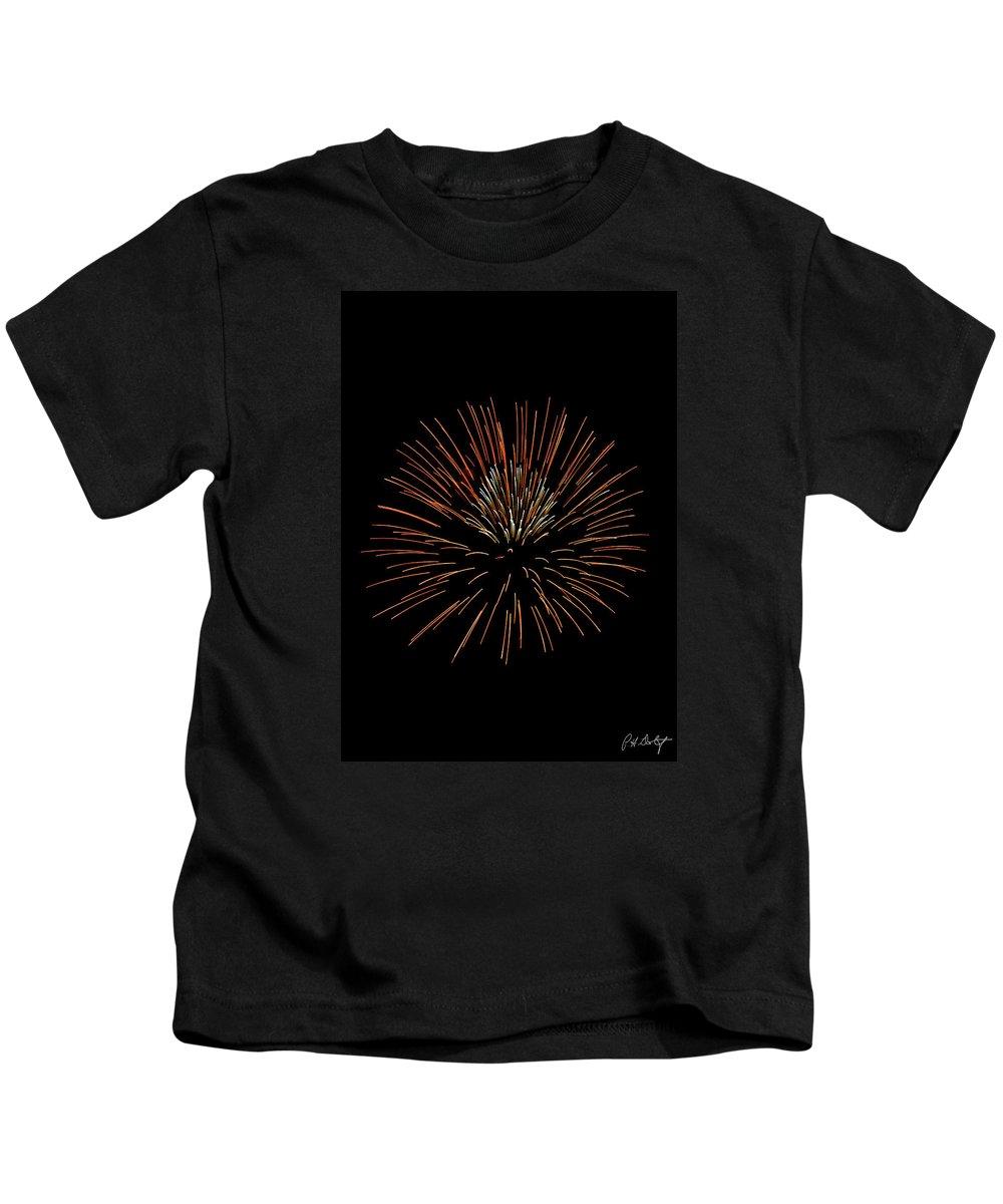 July 4th Kids T-Shirt featuring the photograph Red Ball by Phill Doherty