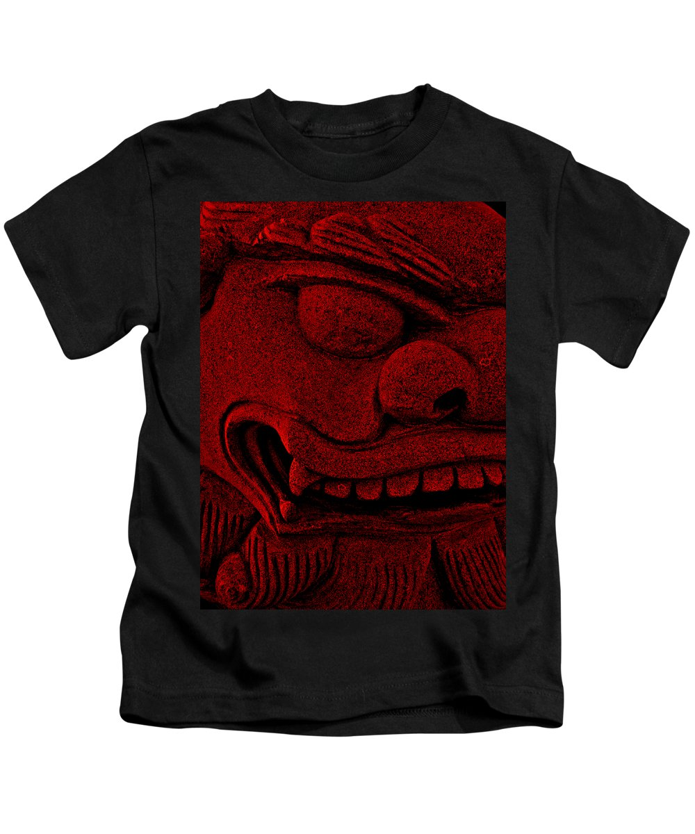 Chinese Kids T-Shirt featuring the photograph Red Chinese Dragon by Angelina Vick