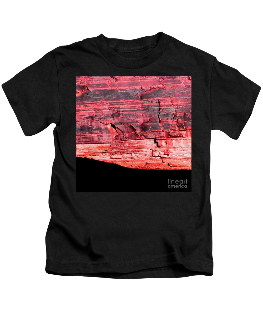 Digital Color Photo Kids T-Shirt featuring the photograph Red Cliff by Tim Richards