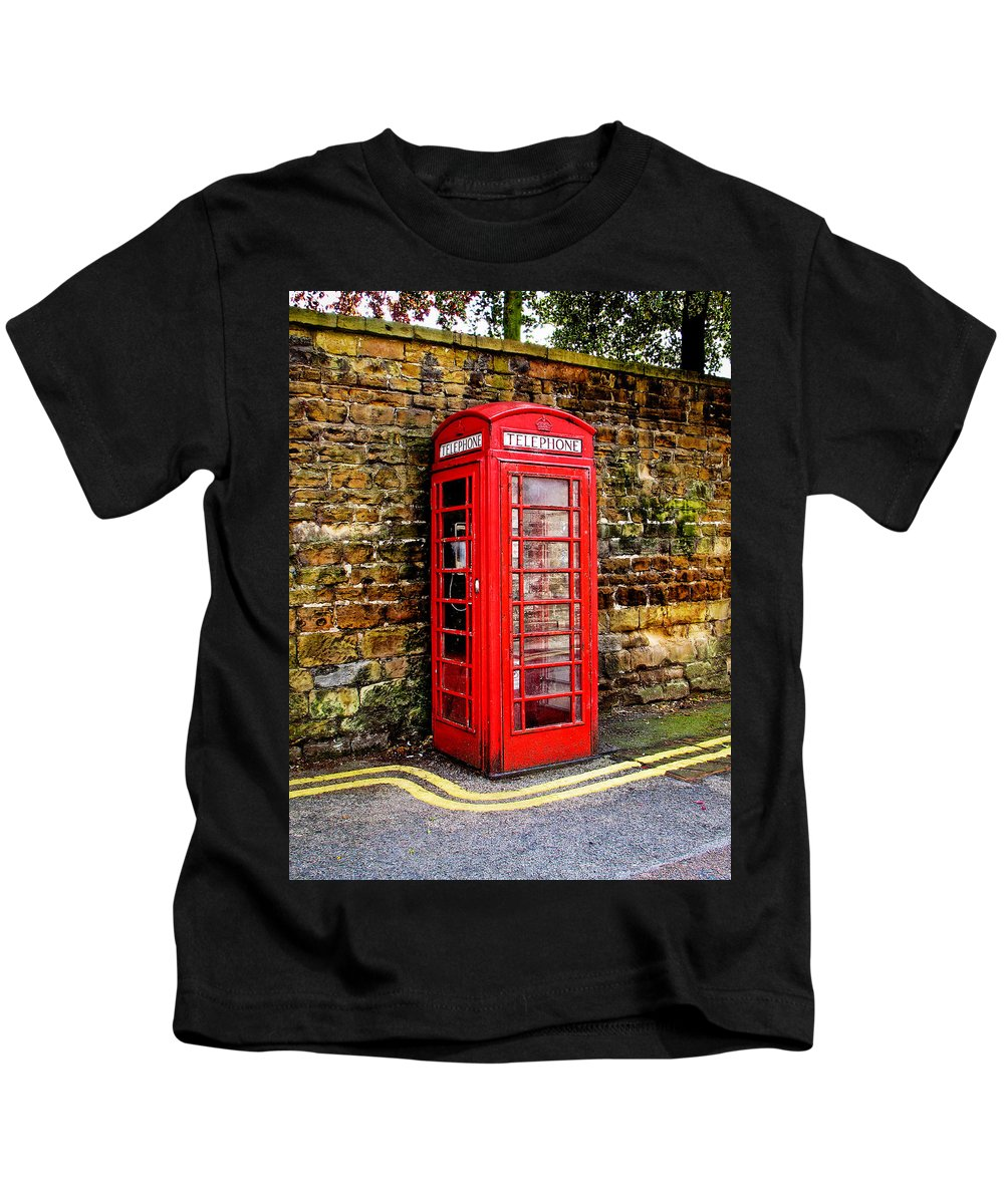 Phone Kids T-Shirt featuring the photograph Red Icon by Jim Pruett