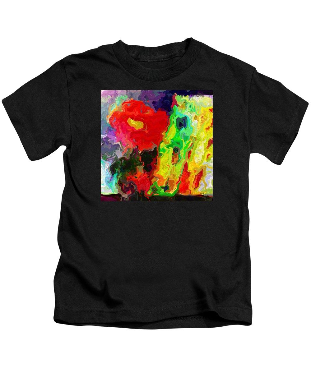 Abstract Kids T-Shirt featuring the photograph Red Rose by Rita Koivunen