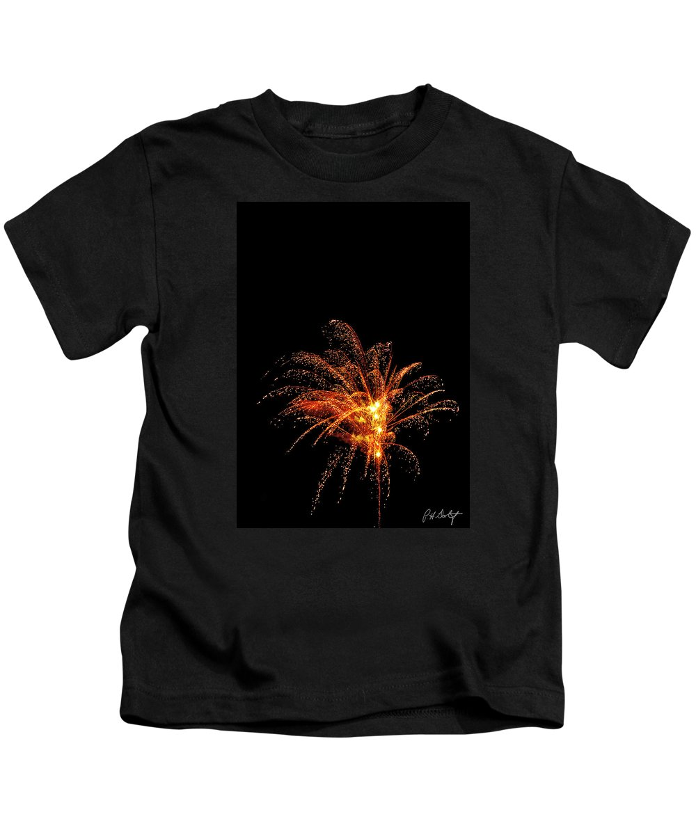 July 4th Kids T-Shirt featuring the photograph Red Splash by Phill Doherty