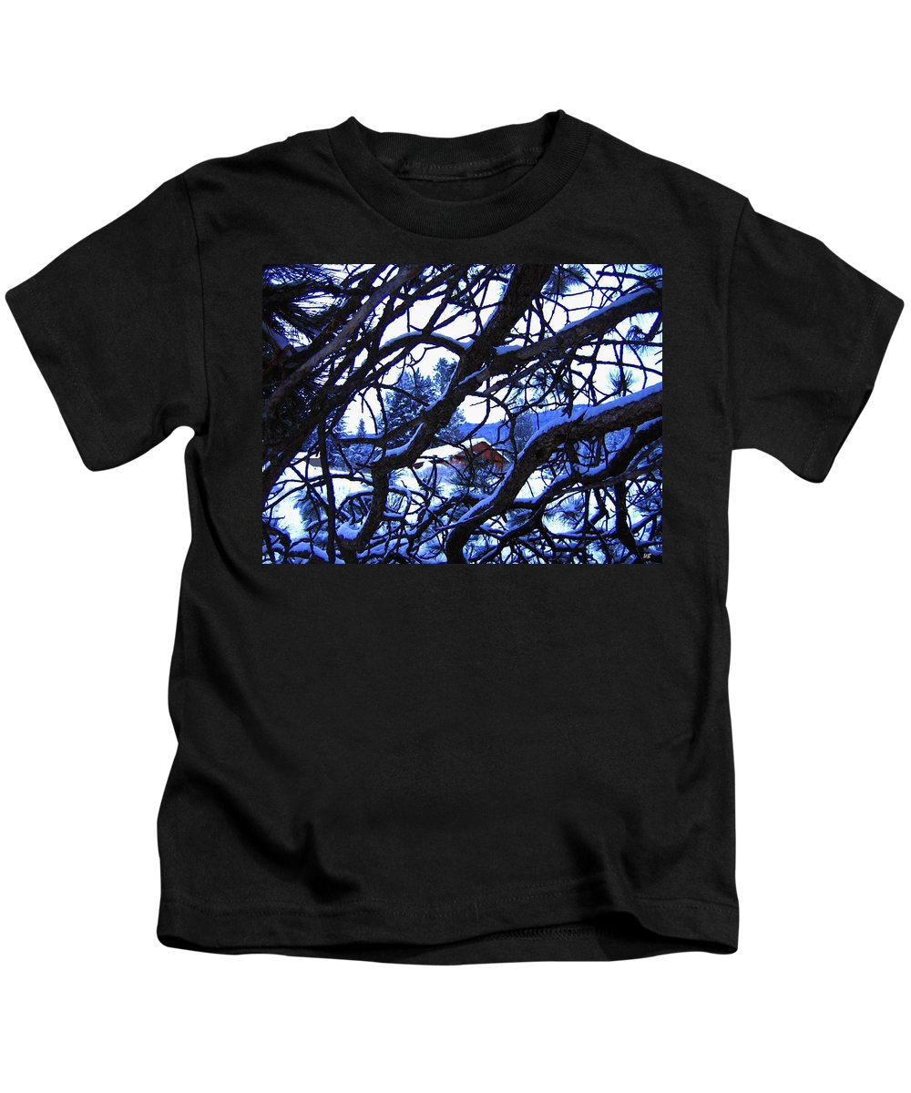Red Woodshed Kids T-Shirt featuring the photograph Red Woodshed by Will Borden
