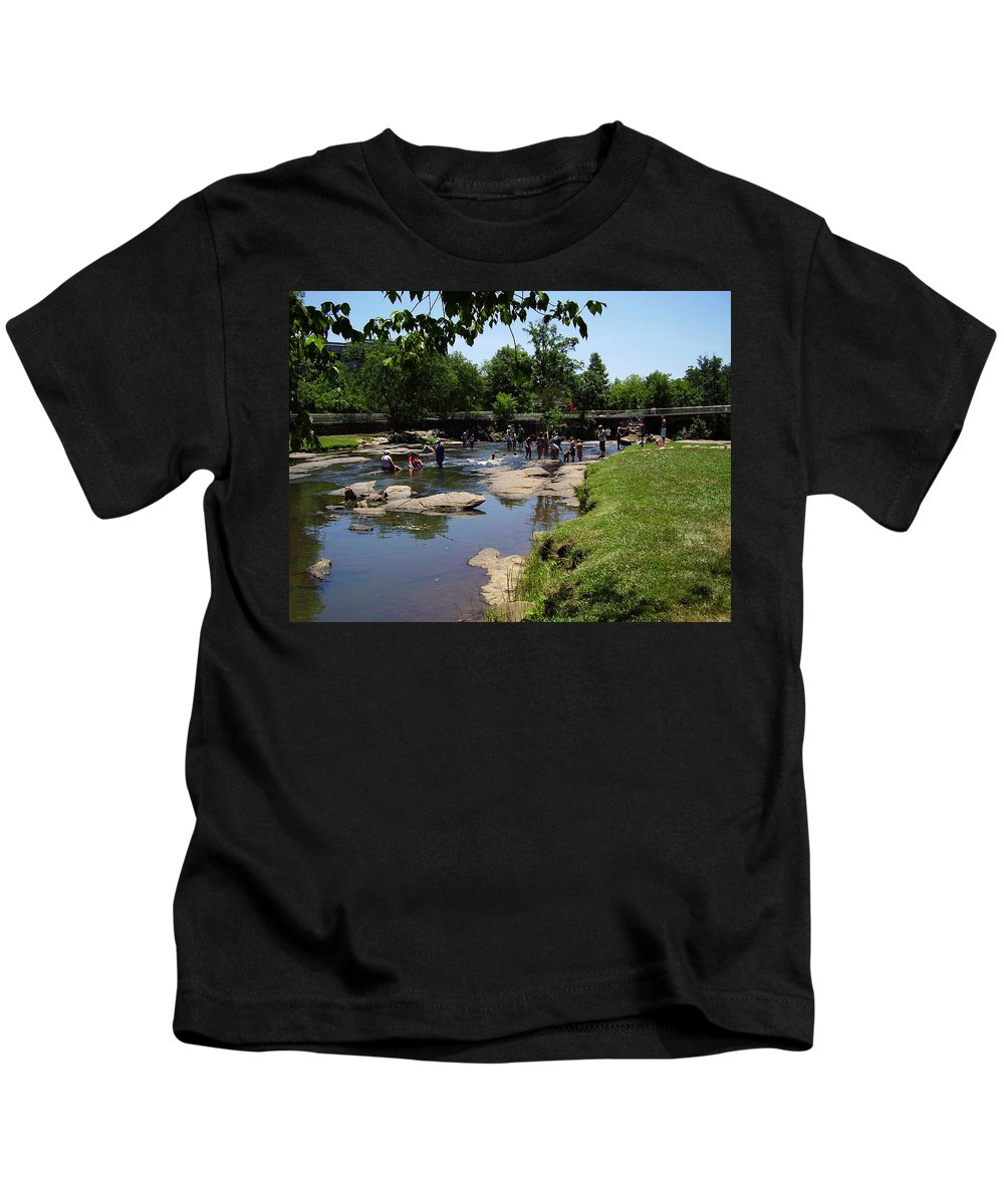 Reedy River Kids T-Shirt featuring the photograph Reedy River by Flavia Westerwelle