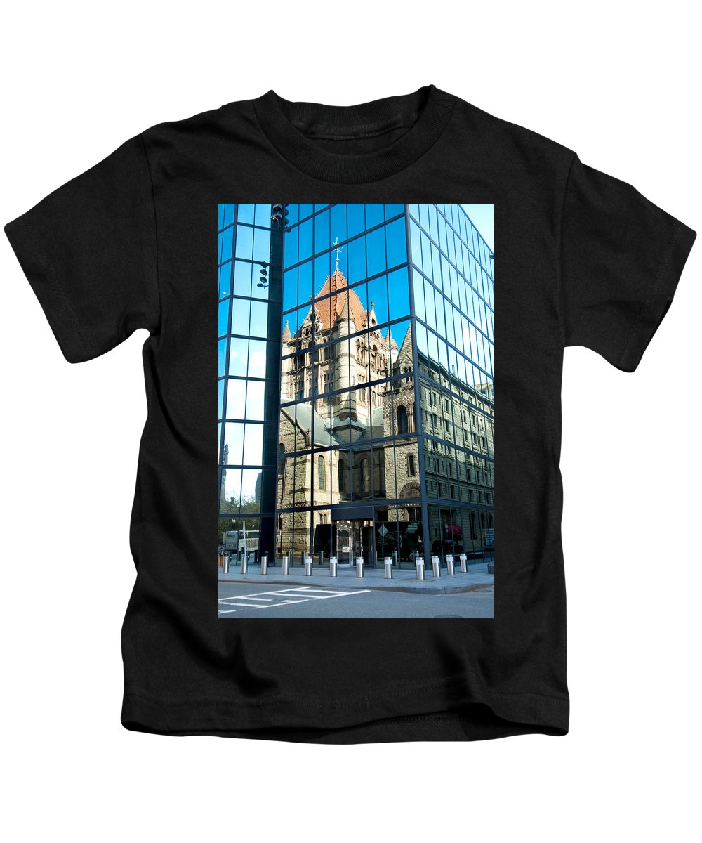 Boston Kids T-Shirt featuring the photograph Reflecting On Religion by Greg Fortier
