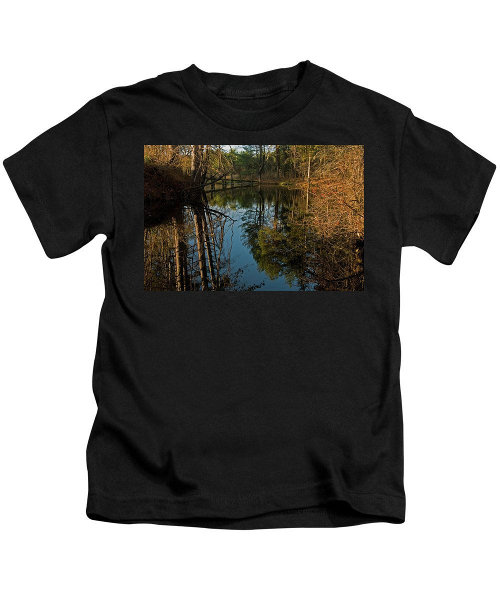 vermont Images Kids T-Shirt featuring the photograph Reflecting Pond by Paul Mangold