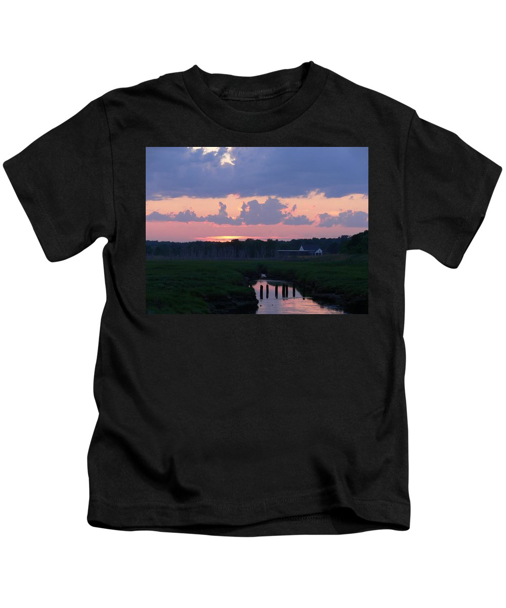 New England Kids T-Shirt featuring the photograph Reflection Of The Day by Nancie DeMellia