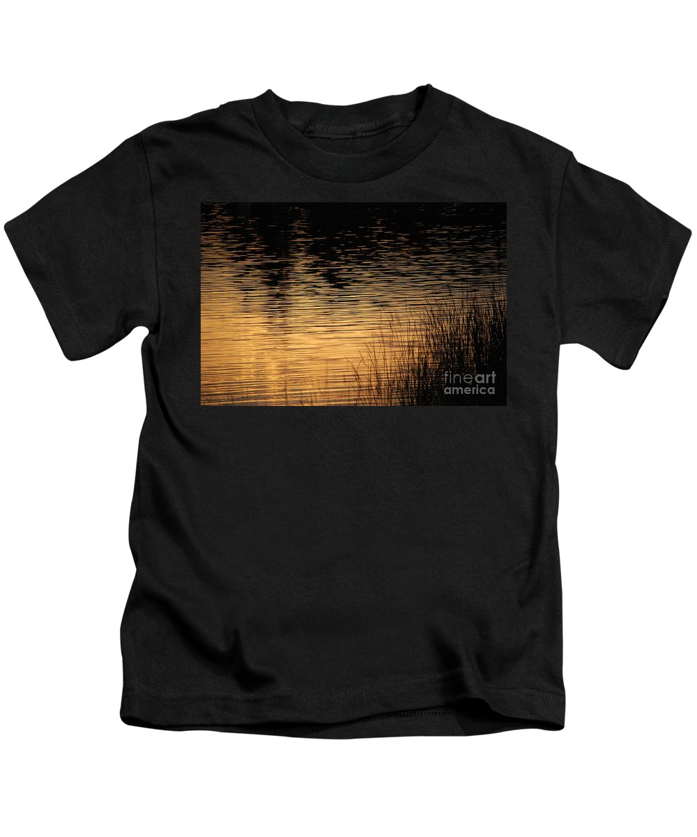 Digital Photo Kids T-Shirt featuring the photograph Reflection On A Sunset by David Lane