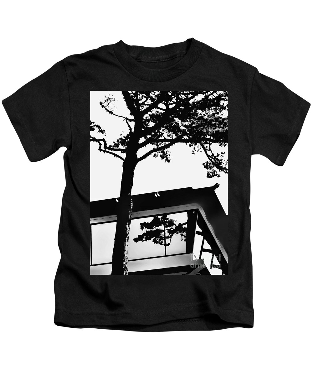 Black Kids T-Shirt featuring the photograph Reflection Study by Diana Rajala