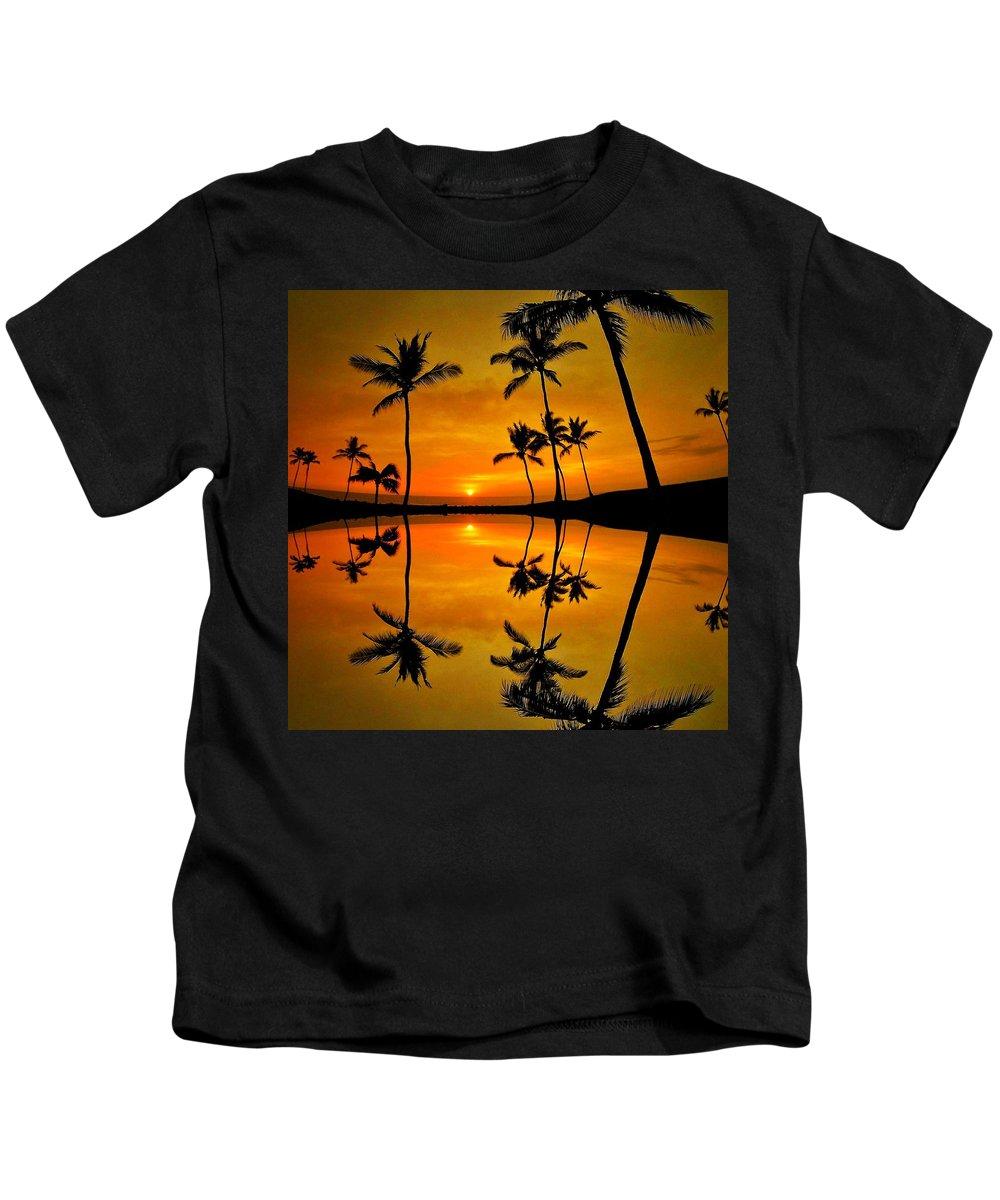 Kids T-Shirt featuring the digital art Reflections by David Dumyahn