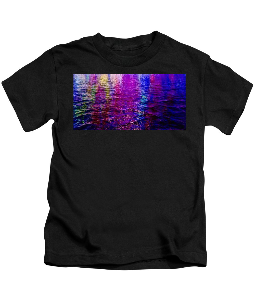 Reflections Kids T-Shirt featuring the painting Reflections by Mark Taylor