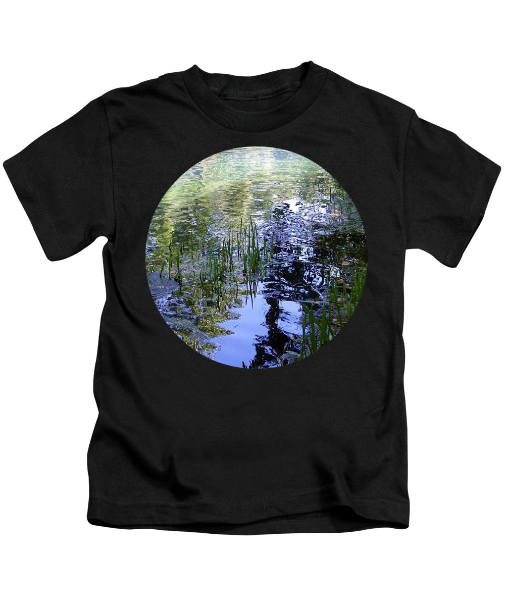 Photograph Kids T-Shirt featuring the photograph Reflections by Mary Wolf