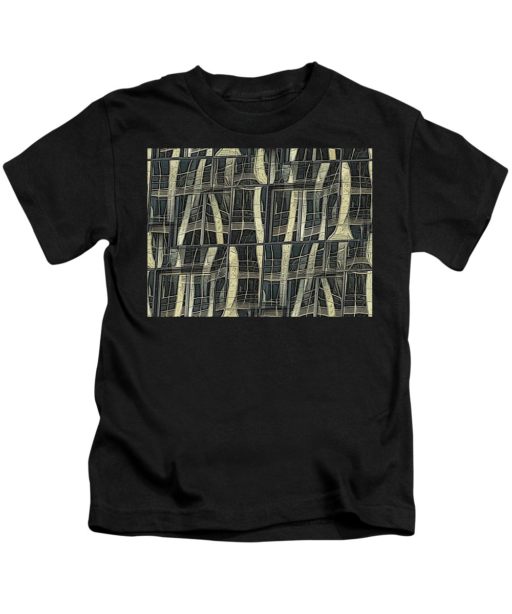 Reflections Kids T-Shirt featuring the digital art Reflections Of A City by Tim Allen
